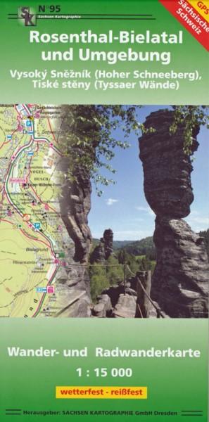 Wanderkarte Rosenthal-Bielatal und Umgebung