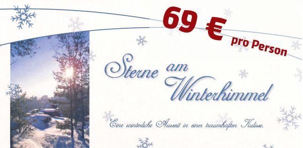 Gutschein Wintersterne - 69 € pro Person im Doppelzimmer