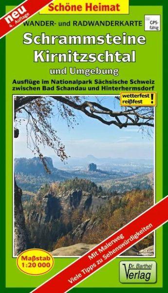 Wander- und Radwanderkarte »Schrammsteine, Kirnitzschtal und Umgebung«
