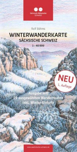 Winterwanderkarte Sächsische Schweiz