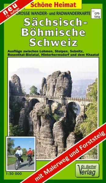 Große Wander- und Radwanderkarte »Sächsisch-Böhmische Schweiz«