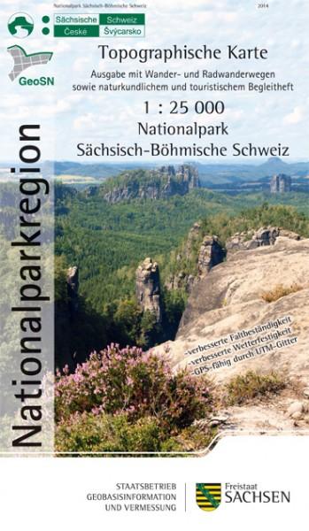 Topographische Karte Nationalpark Sächsisch-Böhmische Schweiz
