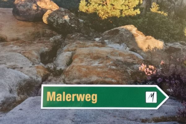 "Aufkleber ""Malerweg"""
