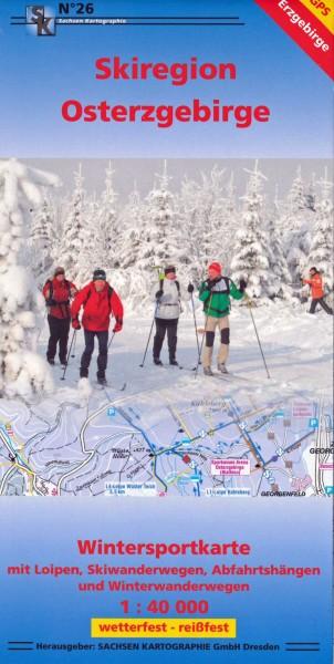 Skiregion Osterzgebirge - Wintersportkarte